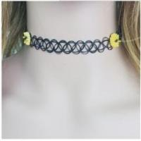Buy cheap Trendy necklace sweet sweet daisy flower handmade tattoo choker necklace, stretch necklace from wholesalers