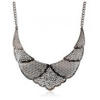 Buy cheap Topshop western vintage silver filled jewelry hollow fashion metal bib necklace from wholesalers