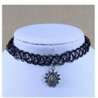 Buy cheap Cheap wholesale hot fashion elastic black choker necklace , charm black tattoo necklace from wholesalers