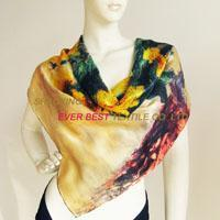 China Silk square scarf 90cm wholesale