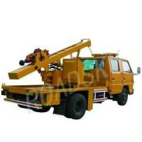China Guardrail Post Highway Guardrail Truck Mounted Pile Driver on sale