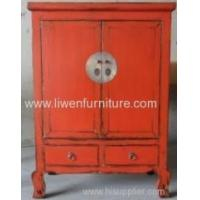 Antique reproduction red cabinet Manufactures