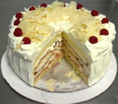 Quality White Chocolate Raspberry Cake for sale