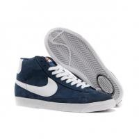 Nike Blazer High Vintage Suede Shoes Mens Navy White Manufactures