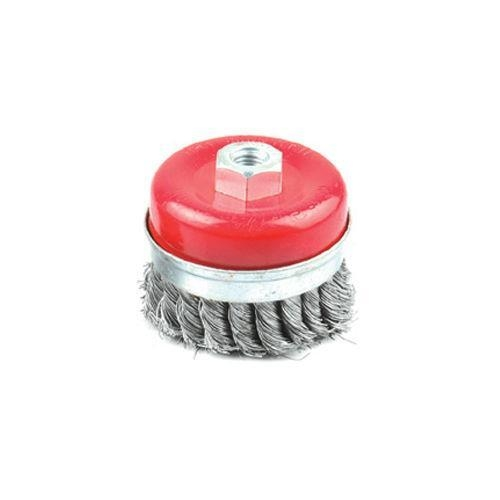 China shaft-mounted bowl brush with crimped wire