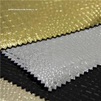 HY-132 zhejiang embossed pu leather bag fabric Manufactures