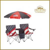 China Double seats camping chair with umbrella on sale