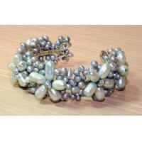 China BL1000 - Silver Freshwater Pearl Bracelet on sale