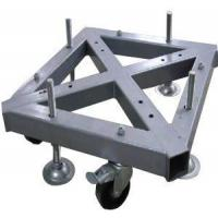 Custom Welding Fabrication 290*290mm Spigot Square Truss Steel Base With Wheel Manufactures