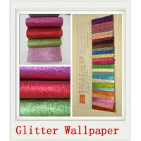 Custom Skyblue Glitter PU Wallpapers Manufactures