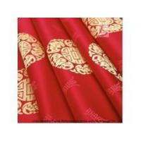 China 100% Polyester Red Jacquard Flame Retardant Curtain Fabric on sale