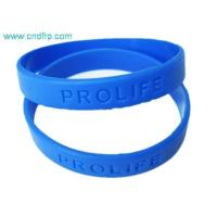 China DF-006 Debossed silicone wristband wholesale