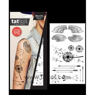Quality Adult Temporary Tattoo - Mono Chic #69576 for sale