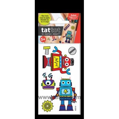 Quality Mini Kid Temporary Tattoo - Robot #69519 for sale