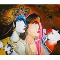 Buy cheap Art Krishna And Radha- Prints For Sale. from wholesalers