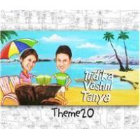 Buy cheap Around The House Caricature Nameplate Beach Couple from wholesalers
