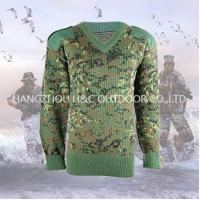 Military sweater 100% wool digital woodland camouflage mi Manufactures