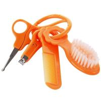 Baby Grooming Care Manicure Set with Comb/Brush/Nail Clipper/Safety Scissor A-1079 Manufactures