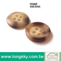 Buy cheap Available in stock (P0356R) Classic Brown Wood Looked Rod Polyester Resin Button for man pants from wholesalers