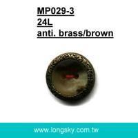 Buy cheap Available in stock (#MP029-3/24L) 15mm plastic and brass rim assembled braces button from wholesalers