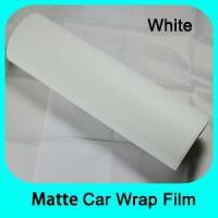 China Matte/Glossy Car Wrap Matt white vinyl car wraps film with removable glue Mate Negro Vinilos on sale