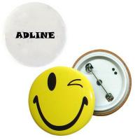 Pin-back, round tin button badge-ADCE5048 Manufactures