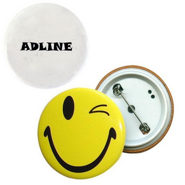 China Pin-back, round tin button badge-ADCE5048