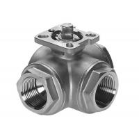 Buy cheap Ballvalve 3 way female thread ball valve with high platform from wholesalers