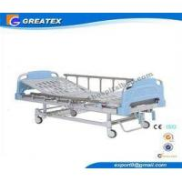 Double Rocker Manual medical adjustable bed with Aluminum alloy handrail for Clinic Manufactures