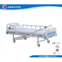 Durable Power Coated Steel Protable hospital adjustable beds for home with drainage hooks Manufactures