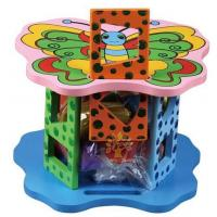 Buy cheap Wooden toy Animal intelligence shape wheel from wholesalers