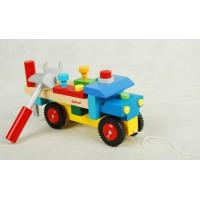 Buy cheap Wooden toy Nut assembly vehicle from wholesalers