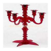Red acrylic candle holders with five holders HCK-011 Manufactures