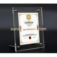 Custom design acrylic a4 certificate holder with top quality APK-029 Manufactures