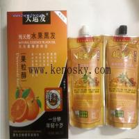 Buy cheap Hair Coloring Product name:Natural fruit essence black hair cream 500ml*2 from wholesalers