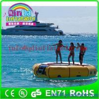 China Amusement inflatable water play equipment floating trampoline orbit water trampoline for sale