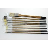 Pure bristle paint brush set with tool box wholesale high quality paint brushes Manufactures