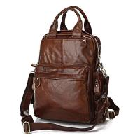 China Famous design multifunction vintage genuine leather satchel bag for men wholesale