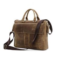 China factory wholesale brown leather business laptop bag briefcase for man Manufactures