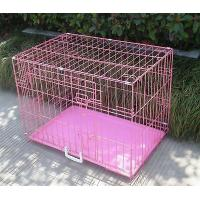 China Folding Metal Pet Crate New 36 2 Door Pink Folding Dog Crate Cage on sale