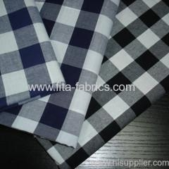 China Polyester and cotton blended checks fabric