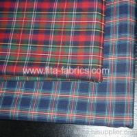 Quality Polyester and cotton yarn-dyed poplin woven fabric for sale