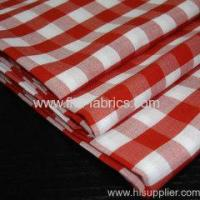Quality 80%polyester 20%cotton yarn dye 1/4 apron check for sale