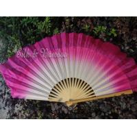 traditional 30cm bamboo+10cm silk white-pink flutter Manufactures