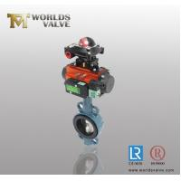 Pneumatic limit switch with standard axle pinless Wafer Butterfly Valve Manufactures