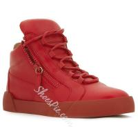 Shoespie Red Side Zipped Men's Sneakers Manufactures