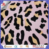 New style multicolor leopard pattern brush backing imitation leather for bags Manufactures