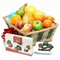 China fruit basket with chocolates NO.2 deliver gift to shanghai on sale
