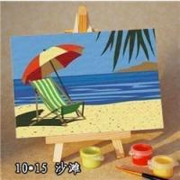 sea cape oil painting by numbers -kid