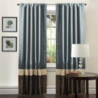 Lush Decor Mia Curtain Panel Pair, 54-Inch by 84-Inch, Federal Blue Manufactures